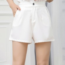 [PRE-ORDER] Women Solid Color Chiffon High Waist Wide Leg Plus Size Chic Shorts