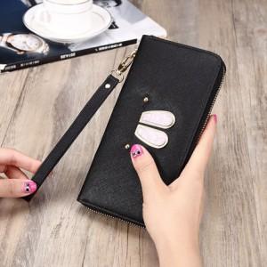 Women Cute Rabbit Ears Mobile Phone Clutch Bag Long Purse Wallet