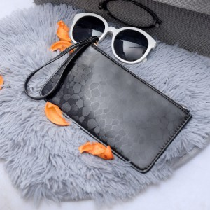 Women Classy Long Slim Zippered Mobile Phone Bag Clutch Purse Wallet
