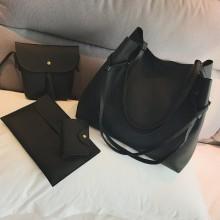 Women Classic Fashion Hand Bag Set With Sling Bag Purse Shoulder Bag