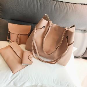 [PRE-ORDER] Women Classic Fashion Hand Bag Set With Sling Bag Purse Shoulder Bag