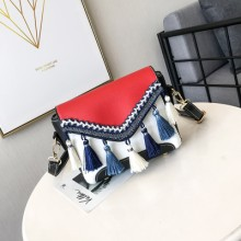 [PRE-ORDER] Women Retro Tassel Square Ladies Fashion Sling Bag Cross Body Bag