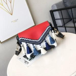 Women Retro Tassel Square Ladies Fashion Sling Bag Cross Body Bag