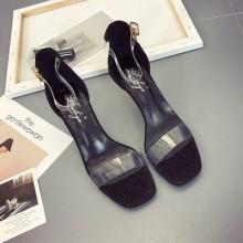 [PRE-ORDER] Women Transparent Strap Open Toe Classy Sexy Ladies High Heels