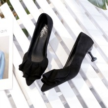 [PRE-ORDER] Women Ruffles Pointed Classy Fashion Ladies Sexy High Heels Shoes
