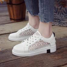 Women Net Comfy Low Heel Casual Sport Running Plus Size Sneaker Shoes