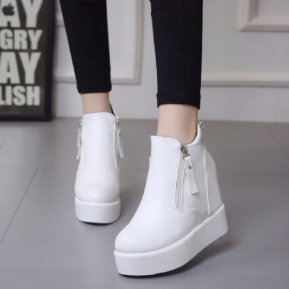 Women Casual Fashion Closed Shoes High Heels Fashion Boots