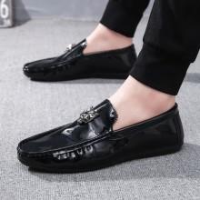 Men's Shiny Social Fashion Easy Slip On Guy Lazy Peas Casual Shoes