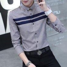 Men's Casual Long Sleeve Business Attire Slim Fit Plus Size Polo Long Sleeve Shirt