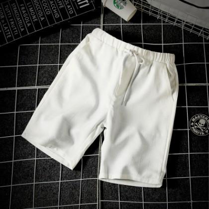 Men's Plaid Quick Dry Waist Tie Slim Fit Plus Size Summer Shorts