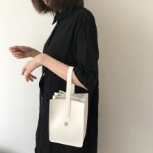 Women Mini Tote Bag Bucket Portable Clutch Bag Multi Layer Purse Hand Bag