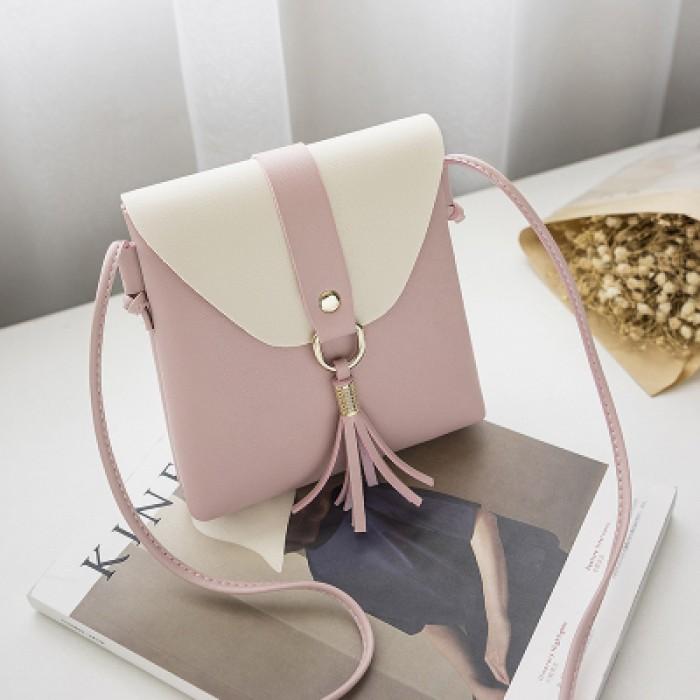 484a6b262175 Women Synthetic Leather Mini Trendy Tassel Fringe Bag Cross Body Sling Ladies  Bag