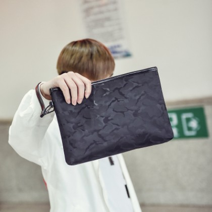 Men's Waterproof Mobile Phone Hand Bag Guy Trend Casual Clutch Bag