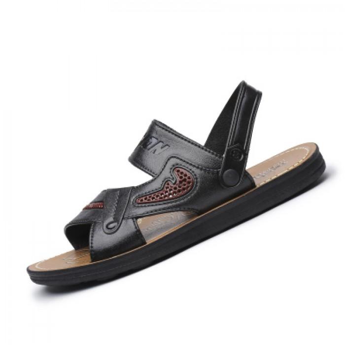 24a9cb0baeb1 Men s Street Fashion Dual Use Flip Flop Summer Flat Slipper Sandals