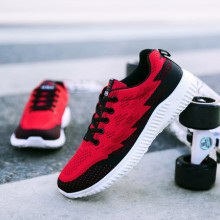 Men's Breathable Comfy Lightweight Lace Up Sports Running Rubber Shoes