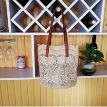Women Lace Cloth Vintage Bag Fairy Fashion Tote Bag