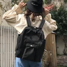 Women Square Student Fashion Big Capacity Hand Bag Travel Backpack