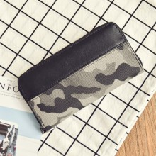 Men's Camouflage Long Mobile Phone Case Guy Fashion Zippered Long Wallet