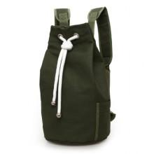 Men's Large Capacity Bucket Bag Canvas Male Fashion Sports Basketball Backpack