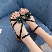 Women Roman Shoes Low Heel Buckle Strap Ladies Plus Size Sandals