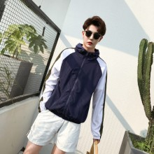 Men's Hoodie Jacket Street Trend Long Sleeve Windbreaker Sun Protection Jacket