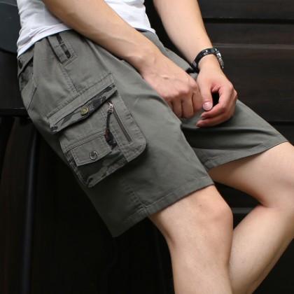 Men's Camouflage Shorts Cotton Loose Fit Summer Beach Shorts Plus Size Pants