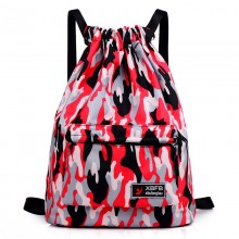 Men's Drawstring Canvas Bag Camo Plain Color Unisex Couple Travel Backpack