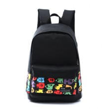 Men's Colorful Print Design Large Capacity Unisex Travel Outdoor Couple Backpack