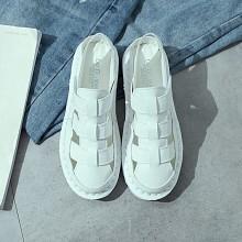 Women Breathable Flat Sandals Roman Strap Low Heel Plus Size Ladies Shoes