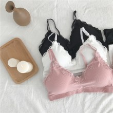 Women Sexy Lace Bra No Underwire Stretchable Underwear Lingerie Set