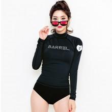 Women Rash Guard Split Type Swimsuit Long Sleeve Plus Size Bikini
