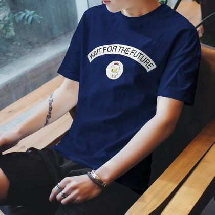 Men's Basic Plain Tee Simple Design Fashion Trend Plus Size T Shirt