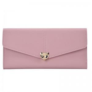 Women Fox Head Ladies Purse 3 Fold Long Card Section Fashion Wallet
