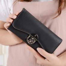 Women Long Fashion Wallet Large Capacity Tri Fold Ladies Hand Purse
