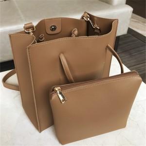 Women Solid Color Square Bag Casual Simple Makeup Pouch Shoulder Bag
