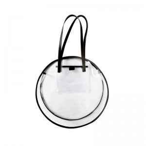 Women Round Jelly Bag Transparent Fashion Large Capacity Shoulder Bag