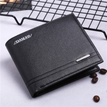 Men's Basic One Fold Leather Wallet Male Fashion Card Case Wallet