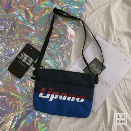 Men's Street Sling Zippered Messenger Cross Body Unisex Couple Bag