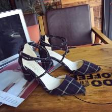 Women Lattice Cross Strap Pointed Toe Chic High Heel Fashion Sandals
