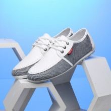 Men's Woven Lace Up Casual Shoes Low Cut Daily Fashion Peas Shoes