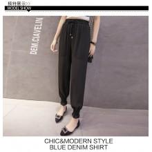 Women Chiffon Harem Trousers Chic Fashion High Waist Plus Size Pants