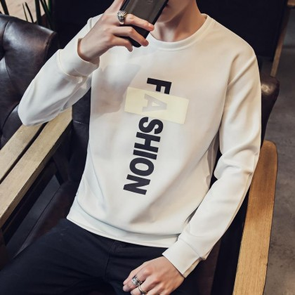 Men's Fashion Casual Pull Over Shirt Long Sleeve Plus Size T Shirt