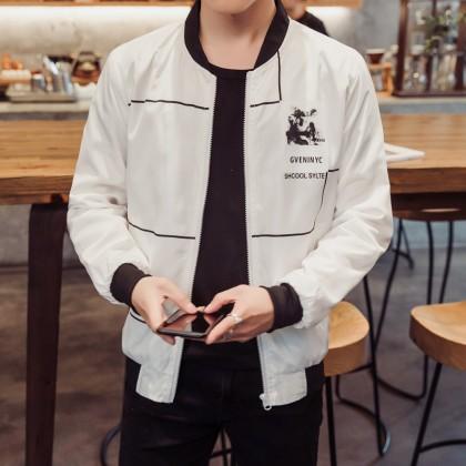 Men's Long Sleeve Autumn Jacket Casual Male Fashion Plus Size Jacket
