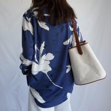 Women Bucket Style Shoulder Bag Large Capacity Ladies Canvas Bag