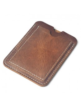 [PRE-ORDER] Men's Leather Driver License Card Case Slim Money Clip Mini Wallet
