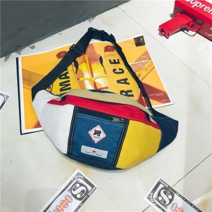 Men's Street Retro Chest Bag Unisex Couple Pocket Dumpling Sling Bag