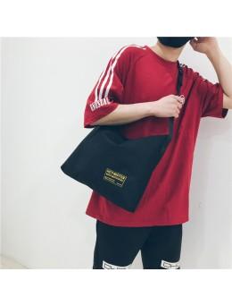 [PRE-ORDER] Men's Simple Canvas Large Capacity Tote Bag Unisex Couple Sling Bag