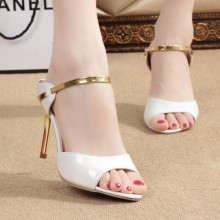 Women Sequin Gold Classy Fashion Ladies High Heels Plus Size Sandals
