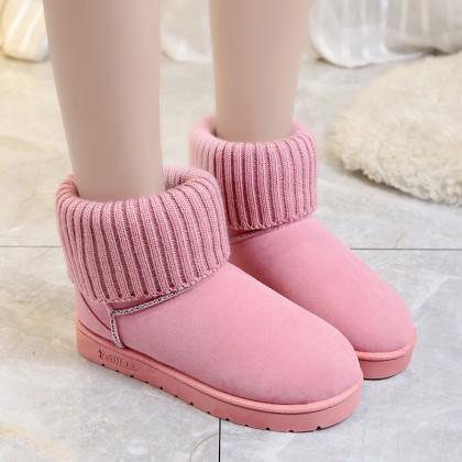 Women Velvet Snow Boots Thick Cotton Plus Size Fashion Ladies Boots