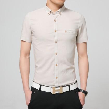 Men's Basic Polo Shirt Cotton Slim Fit Casual Business Style Plus Size Shirts
